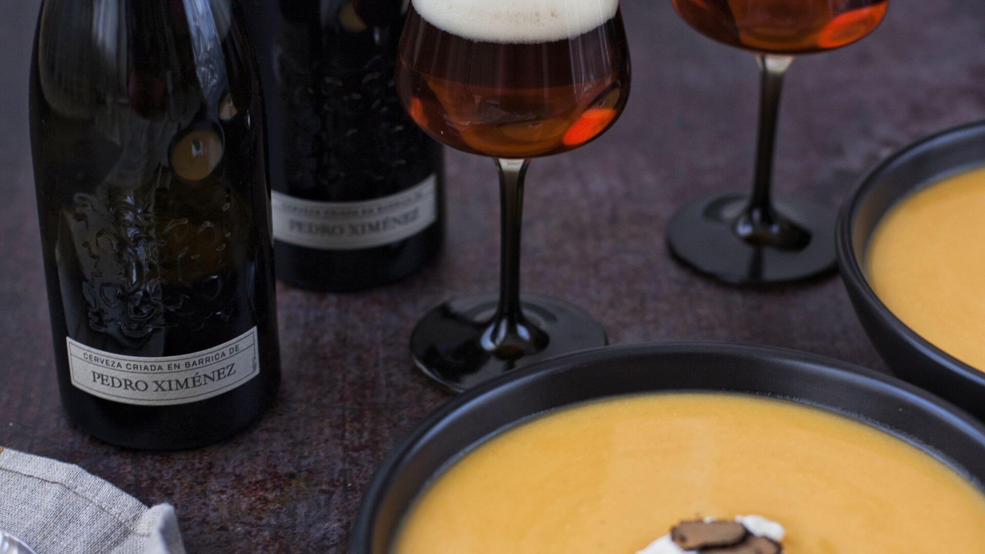 Crema de calabaza con trufa negra, receta para una cena especial