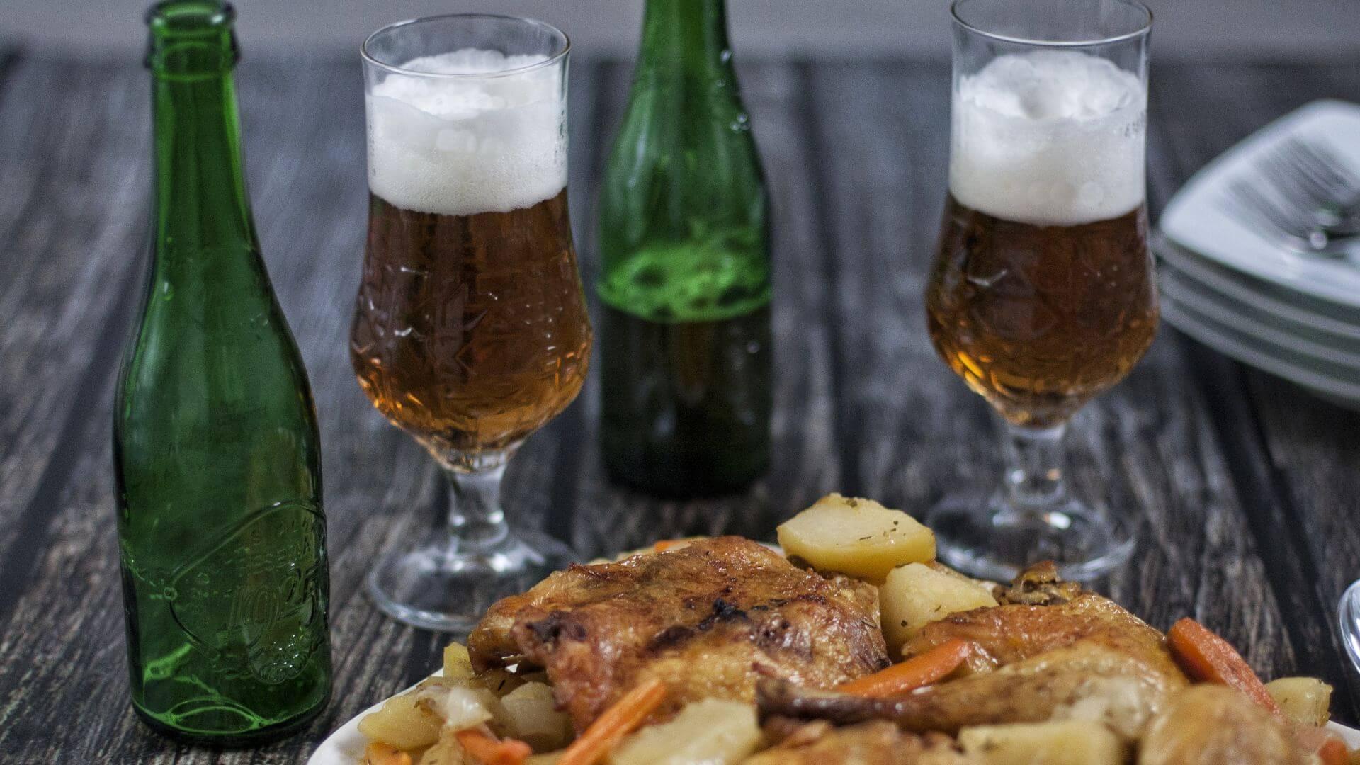 Pollo al horno con verduras asadas, la grandeza de lo sencillo