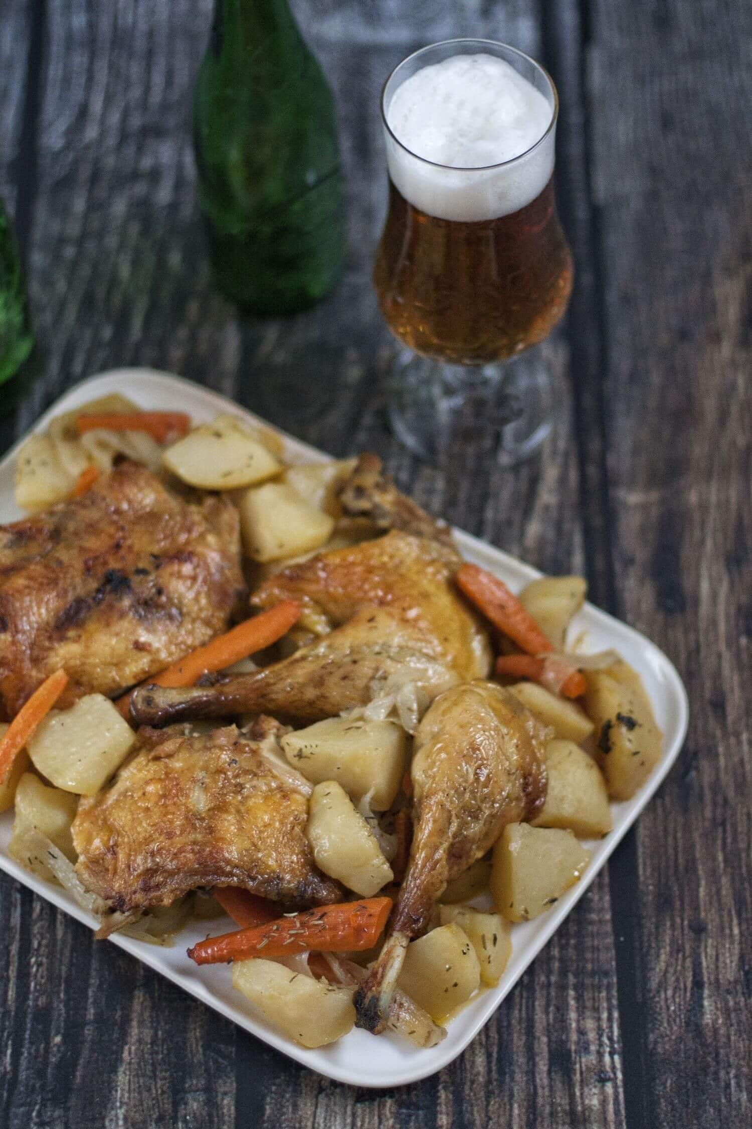 La forma más jugosa de preparar un pollo al horno