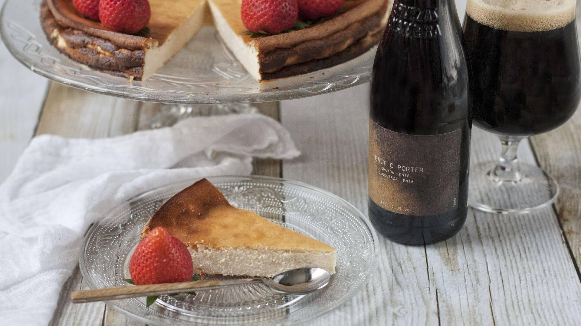 Tarta de requesón con fresas, un capricho irresistible y de alma campestre