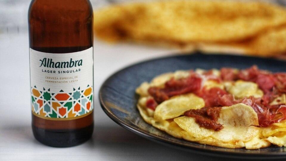 Tortilla vaga con jamón ibérico: cuando el secreto está en no dar la vuelta a la sartén